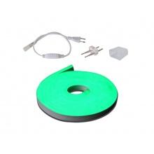 LED neon flexi hadice 230V, 2835, 120LED/m IP67 12W/m 3m zelená+příslušenství