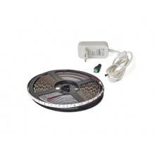 LED pásek sada 5m 12V 3528 60LED/m IP20 4.8W/m modrá, magnetický + zdroj