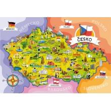 Puzzle TEDDIES MAPA ČESKÉ REPUBLIKY 120 dílků