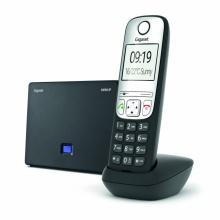GIGASET-A690IP Gigaset - DECT/GAP bezdrátový IP telefon, 6 SIP účtů, 1x PSTN, až 3 hovory zároveň, barva černá