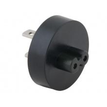 Zásuvkový konektor Typ A (US) pro USB-C nabíječky, černá