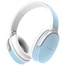 AV:link WBH-40 BLU,multimediální bezdrátová sluchátka, světle modré