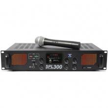 Skytec SPL-300, zesilovač s VHF mikrofonem, MP3, FM