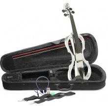Stagg EVN X-4/4 WH, elektrické housle, bílé