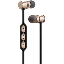 AV:link EMBT1-GLD magnetická Bluetooth sluchátka do uší, zlatá