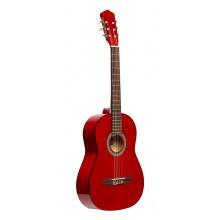 Stagg SCL50 3/4-RED, klasická kytara 3/4, červená