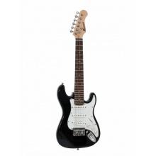 Dimavery J-350 E-Guitar ST, elektrická kytara Junior, černá