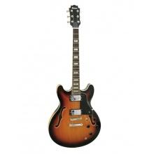 Dimavery SA-610, kytara semiakustická, stínovaná tmavá
