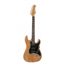Dimavery ST-303, elektrická kytara, amber