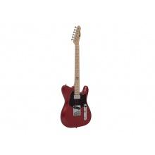 Dimavery TL-501 Modern, elektrická kytara, červená