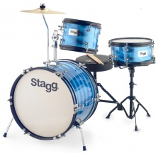 Stagg TIM JR 3/16B BL, dětská bicí sada, modrá