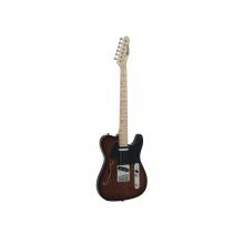 Dimavery TL-501 Thinline, elektrická kytara, hnědá