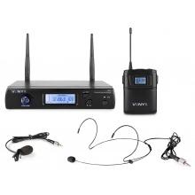 Vonyx WM61B, UHF mikrofonní set 1 kanálový, 1x náhlavní/klopový mikrofon