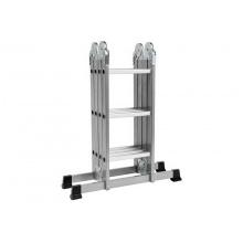 Víceúčelový skládací žebřík, 4x3 příčky, výška 3,4m