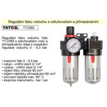 Regulátor tlaku vzduchu s odlučovačem a přimazáváním YT-2385