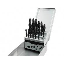 vrtáky do kovu v kovové krabičce, sada 25ks, Ř1-13mm, po 0,5mm, HSS, EXTOL PREMIUM