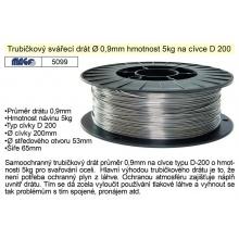 Drát svařovací trubičkový 0,9mm/5kg na ocel