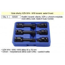 Nástrčné hlavice XZN sada 6 kusů kované M14-M18  Condor