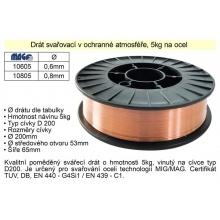 Drát svařovací v ochranné atmosféře 0,6mm/5kg na oc