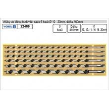 Vrtáky do dřeva hadovité sada 6 kusů 10-20mm délka 460mm