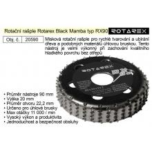Rotační rašple Rotarex Black Mamba RX 90mm