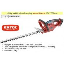 Aku nůžky na živé ploty 18 V / 1500 Ah  Li-On Extol Premium 8895440