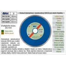 Kotouč diamantový celoobvodový DKCQ200 pro řezačky dlažeb