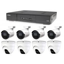 Kamerový set 1x AVTECH DVR DGD1009AV, 4x 5MPX Dome kamera AVTECH DGC5205TSE a 4x 5MPX Bullet kamera AVTECH DGC5105T + 4x napájecí zdroj ZDARMA!