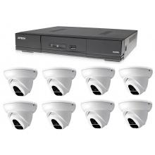 Kamerový set 1x AVTECH DVR DGD1009AV a 8x 2MPX Dome kamera AVTECH DGC1004XFT + 4x napájecí zdroj ZDARMA!