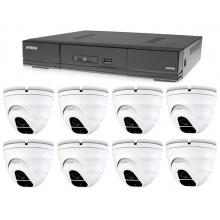 Kamerový set 1x AVTECH DVR DGD1009AV a 8x 5MPX Dome kamera AVTECH DGC5205TSE + 4x napájecí zdroj ZDARMA!