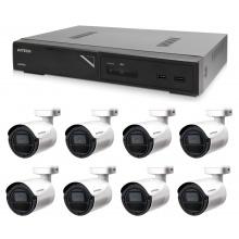 Kamerový set 1x AVTECH NVR AVH1109 a 8x 2MPX IP Bullet kamera AVTECH DGM2103SV + 8x Kabel UTP 1x RJ45 - 1x RJ45 Cat5e 15m!