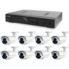 Kamerový set 1x AVTECH NVR AVH1109 a 8x 5MPX IP Bullet kamera AVTECH DGM5606 + 8x Kabel UTP 1x RJ45 - 1x RJ45 Cat5e 15m!