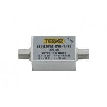 Anténní zesilovač Teroz 600X, nízkošumový, UHF, G17dB, F0,7dB, U>120dBµV, F-F
