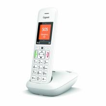 GIGASET-E390-WHITE Gigaset - DECT/GAP bezdrátový telefon, dětská chůvička, SOS funkce, lupa, barva bílá