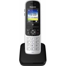 KX-TGH710FXS Panasonic - DECT bezdrátový telefon, SMS, GAP, CLIP, telefonní seznam 200 jmen, barva stříbrno/černá