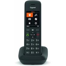 GIGASET-C575 Gigaset - DECT/GAP bezdrátový telefon, adresář 200 jmen, možno na stěnu, lze až 6 sluch.,barva černá