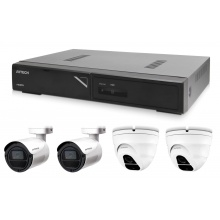 Kamerový set 1x AVTECH NVR AVH1104, 2x 2MPX IP Bullet kamera AVTECH DGM2103SV a 2x 2MPX IP Dome kamera AVTECH DGM2203SVSE + 4x Kabel UTP 1x RJ45 - 1x RJ45 Cat5e 15m!