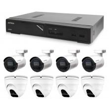 Kamerový set 1x AVTECH NVR AVH1109, 4x 2MPX IP Bullet kamera AVTECH DGM2103SV a 4x 2MPX IP Dome kamera AVTECH DGM2203SVSE + 8x Kabel UTP 1x RJ45 - 1x RJ45 Cat5e 15m!