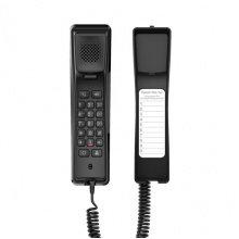 H2U BLACK Fanvil - IP hotelový telefon na stěnu, 2x SIP linka, 1x RJ45 Mb, POE, černý