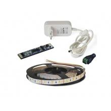 LED pásek sada 2,5m 12V 3527 120LED/m IP20 9,6W/m CCT (WW+CW) + Proximity kontroler + zdroj