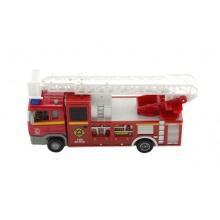 Dětské hasičské auto TEDDIES se světlem a zvukem 17 cm