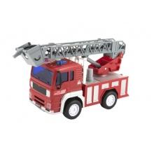 Dětské hasičské auto na setrvačník TEDDIES se zvukem a světlem 20 cm