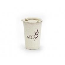 Kelímek s víčkem G21 beECO Espresso 280ml béžový