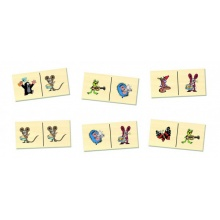 Dětské domino DETOA Krteček dřevěné 28ks