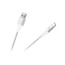 Kabel REBEL USB/USB-C RB-6001-050-W 0,5m bílý