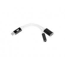 Adaptér REBEL USB-C na JACK 3,5mm (pro poslech hudby) + USB-C(nabíjení)