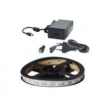 LED pásek sada 2,5m 12V 5050 60LED/m IP65 14.4W/m ultrafialový +zdroj
