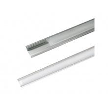 AL profil AR1 nový 24,7x7mm pro LED pásky, k zapuštění, včetně plexi 2m