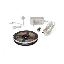 LED pásek sada 2,5m 12V 3528 60LED/m IP65 4,8W/m bílá teplá extra + PIR + zdroj