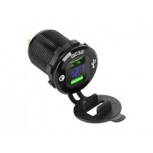 Nabíječka USB PEIYING PY-CHR0004 s QC a měřičem napětí